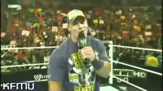 John Cena FreeStyle rap to The Rock