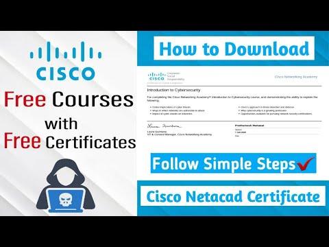 How to Download Certificate from Cisco Netacad   Cisco Networking ...