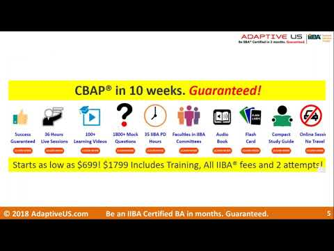 Preparing for the CBAP certification - YouTube
