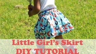 How To Make A Simple Girls Skirt- Beginner Sewing