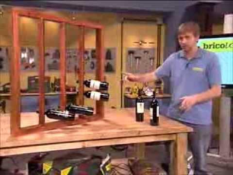 Botellero de madera para pared