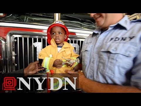 Brooklyn boy reunited with veteran FDNY firefighter who saved his life