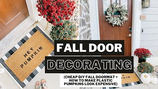 FALL DECOR IDEAS | Cheap + Easy Fall Door Decorations For Your Home or Apartment