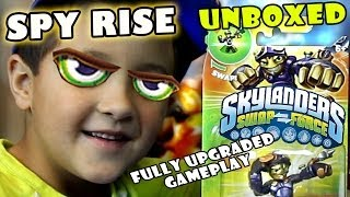 Spy Rise Unboxing + Fully Upgraded Gameplay - Arena Battle (Skylanders Swap Force Wave 3)