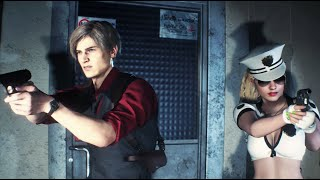 Resident Evil 2 Mod Claire Redfield Bad Cop Black White Retexture