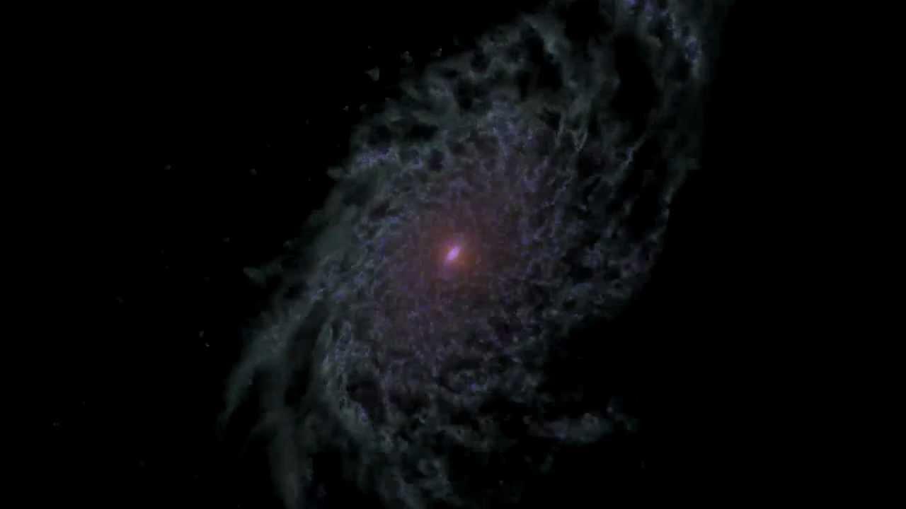 This Stunning NASA Simulation Shows A Galaxy's Entire Life History