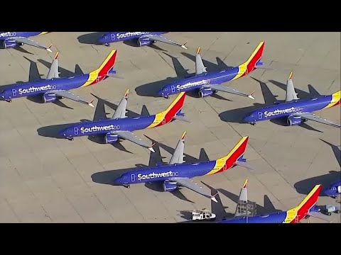 A Southwest Airlines Boeing 737 Max made an emergency landing in Orlando Tuesday. The plane had no passengers and was being ferried to Victorville, California, where Southwest is storing the planes that were grounded after two fatal crashes. (March 26)
