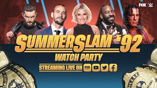SummerSlam 1992 Watch Party With CM Punk, Bret Hart, Booker T, Finn Balor & Renee Young | WWE ON FOX
