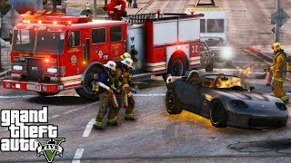 GTA 5 | LAFD Responds To A Fire At The Life Invader Building