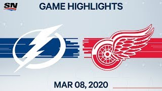 NHL Highlights | Lightning Vs Red Wings – Mar. 8, 2020