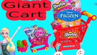 Queen Elsa Shopkins Season 2 GIANT CART Surprise Mystery Blind Bag Egg MLP Fash'ems Disney Frozen