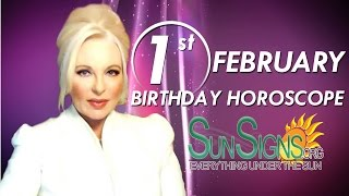 Birthday February 1st Horoscope Personality Zodiac Sign Aquarius Astrology