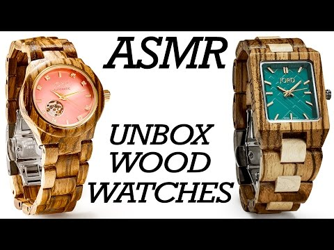 ASMR Soft Spoken Tapping & Scratching, Wooden Watch Review, 3Dio Ear to Ear Sounds for Relaxation