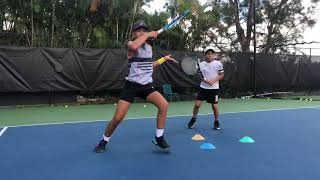 Developing Tennis Champions with Coach Dabul. Players on the videos are between 8 and 11 y/o