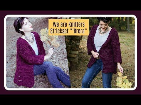 CARDIGAN ganz einfach stricken - We are Knitters Strickset Brera - Anfänger