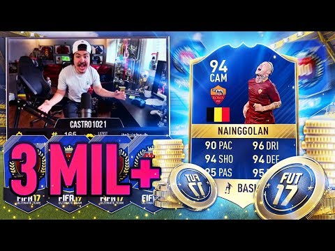 94 TOTS NAINGGOLAN IN A PACK! TOP 100 REWARDS! FIFA 17