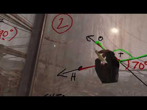 Math Teacher delivers remote video lesson in... Half-Life: Alyx.