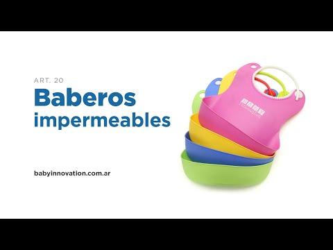 Babero de silicona Baby Innovation Verde video
