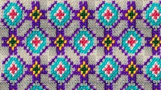 Chater Upor Uuler kaj- Simple Ason Design- Cross Stitch Asan Design- Hand Embroidary