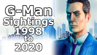 All G-Man Sightings (1998 - 2021)
