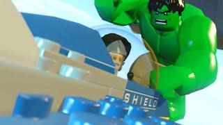 """Lego Marvels Avengers Hulk Attacks Stan Lee's Fighter Jet Scene """"The Avengers"""""""