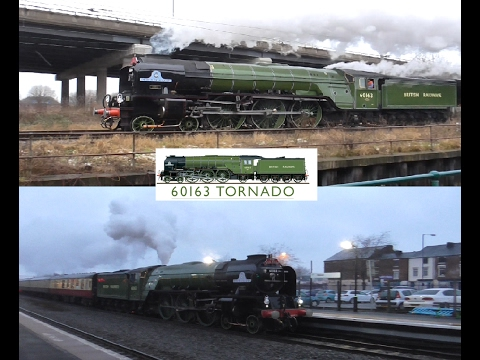 LNER 60163 'Tornado' at Bescot and Walsall with 'The Red Ros…