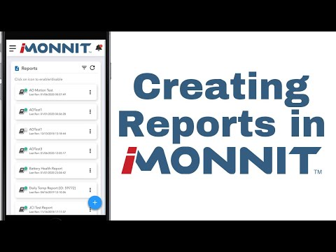 how to create reports in iMonnit