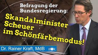 Skandalminister Scheuer im Schönfärbemodus. Planungschaos zum Brenner-Basistunnel