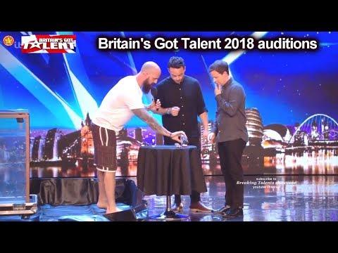 Matt Johnson Escape Artist/Escapologist Part 1   Auditions Britain's Got Talent 2018 S12E01 (видео)
