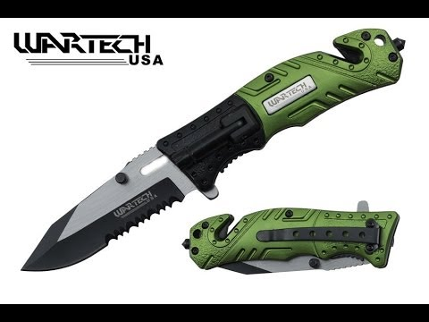 Review of the Wartech 8″ Assisted Open Folding Tactical Survival Pocket Knife