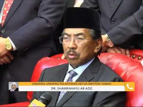 Undang-undang pelantikan Ketua Menteri Sabah