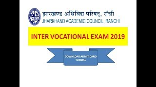 INTER VOCATIONAL EXAM 2019- ADMIT CARD IS LIVE NOW--PLEASE INFORM TO ALL RELATED SCHOOLS.
