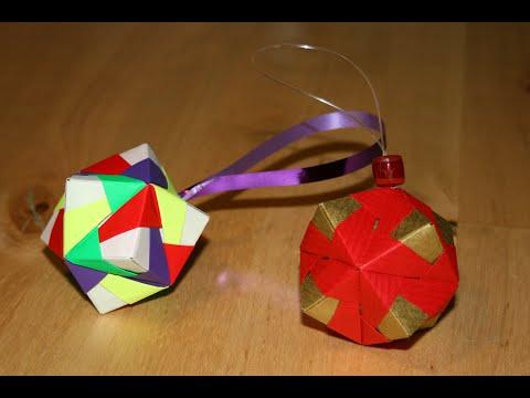 Origami - Boule de Noël