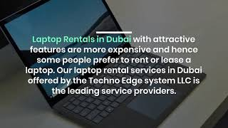 Why to Choose our Service for Laptop Rentals in Dubai?
