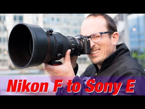 Nikon F to Sony E Adapters TESTED - (Autofocus, Metering and VR)