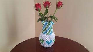 3D Origami Vazo YapimiHow To Make A Vase