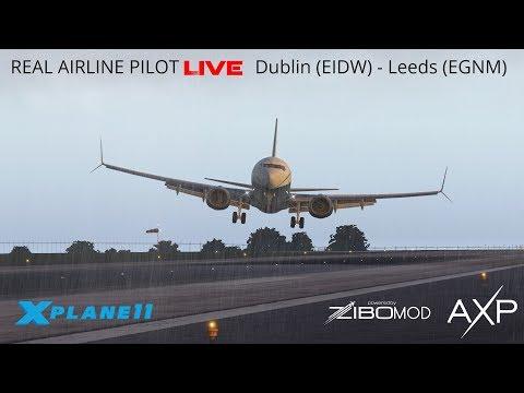 Real Airline Pilot LIVE (ZIBO MOD 737) | STORM GARETH!! | Dublin