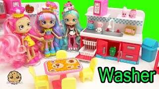Shopkins Season 6 Chef Club Sparkle Clean Kitchen Dishwasher + Grossery Gang Surprise Blind Bags