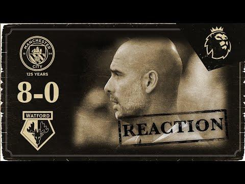 PEP GUARDIOLA REACTS TO AN EMPHATIC WIN | Man City 8-0 Watford