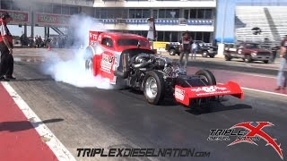 DIESEL NITRO FUNNY CAR OUT OF CONTROL!