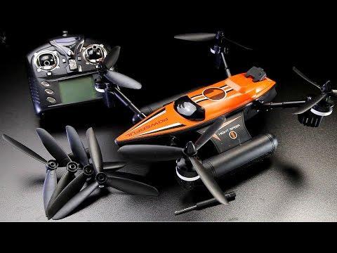 WLtoys Q353 Triphibian RC boat car quad features, flights, full review