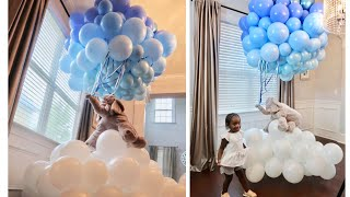 DIY EASY FLOATING ELEPHANT / TEDDY BEAR ON CLOUDS WITH BALLOONS