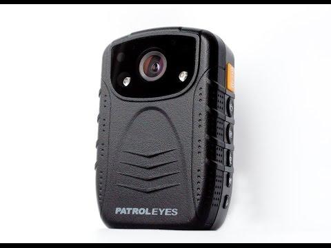 PatrolEyes HD 1296P DV1-2 Night Vision Infrared Police Body Camera - Day / Night Footage