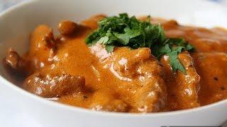 Смотреть онлайн Рецепт бефстроганов из говядины в мультиварке