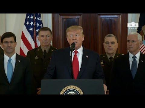 """Trump dice que Irán parece estar """"retirándose"""" después del ataque"""