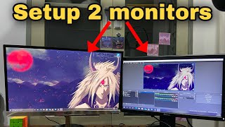 How to connect 2 monitors to a computer