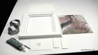 attaching paintings on panels to wooden floater frames