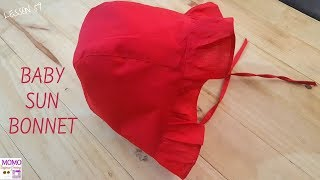Baby Bonnet Tutorial - Beginners Sewing Lesson 59
