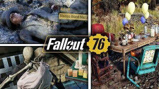 Fallout 76 - Secrets & Easter Eggs - Alice in Wonderland, Willy Wonka, Bat Boy, The Shining, & More!