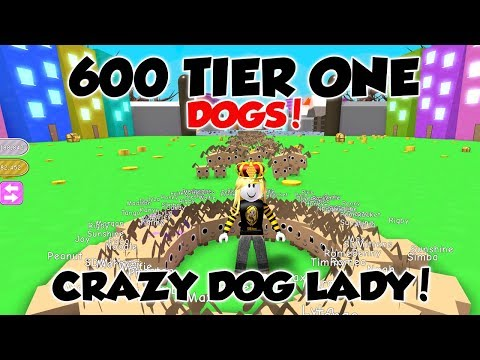 [600 DOGS!] CRAZY DOG LADY!! - Roblox Pet Simulator